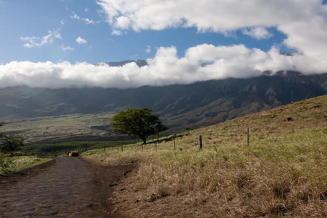 Uitzicht op de Haleakala vulkaan