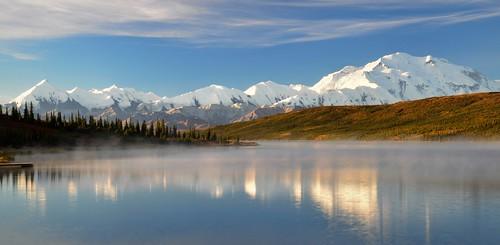 Beautiful misty morning - Wonder Lake, Denali National Park, Alaska