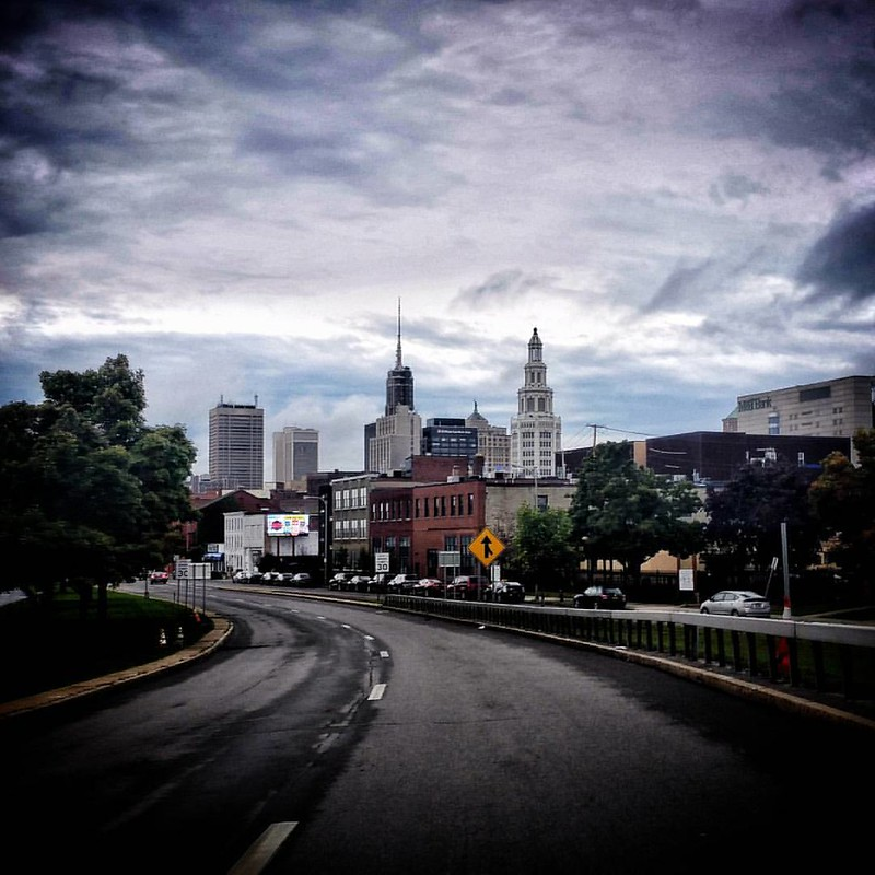 Rainy day down town #BuffaloNewYork #ilovewny #iloveny #RiseBFLO #igersbuffalo #newyork #travelBUF #hashtagstepoutbuffalo #stormyweather #stormclouds #cloudporn #explorebuffalo