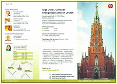 Church Latvia Riga St. Gertrude Old Church