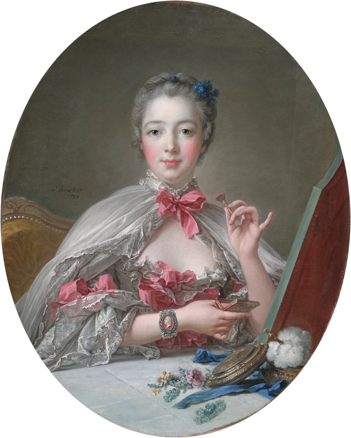 Madame de Pompadour at Her Toilette, 1758