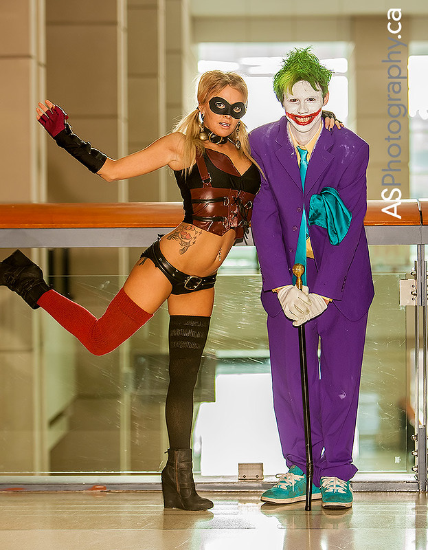 Harley Quinn & Joker captured at C2E2 2013