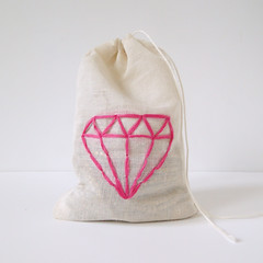 Embroidered Jewelry Pouch