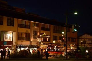 曳山祭宵祭り@城端。
