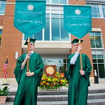 13cmc07 -- MAY 2013: The Class of 2013 was the first to graduate on the new Kemp Commencement Plaza at State Farm Hall.