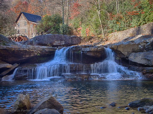 Scenic Glade Creek Grist Mill in Babcock State Park, West Virginia