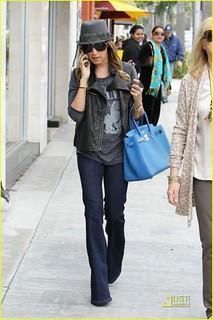 Ashley Tisdale Leather Vest Celebrity Style Women's Fashion