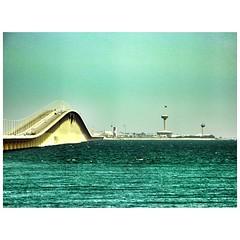 King Fahd Causeway, which connects Bahrain and Saudi Arabia
