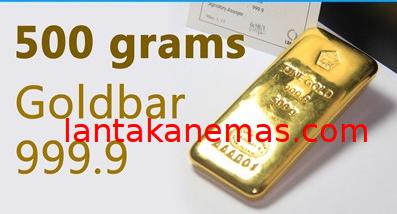 Emas Batangan LM Antam Pecahan 500 gram