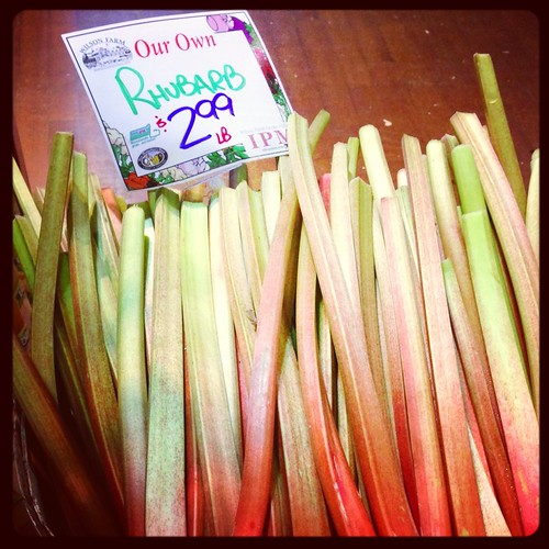 Rhubarb from Wilson Farm in Lexington MA via MealMakeoverMoms.com/kitchen #rhubarb