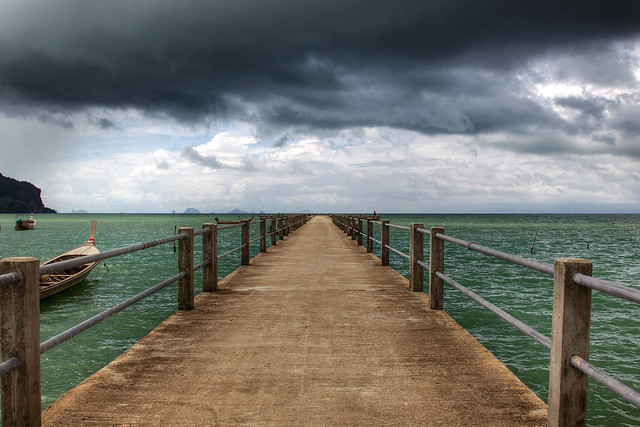 Pier to the horizon