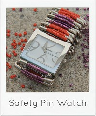 how to make a safety pin watch