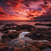 Sunset @ Le Dramont (French Riviera) by Eric Rousset