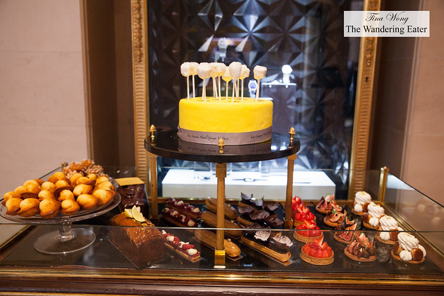 Cart full of sweets found at the lobby of Four Seasons Paris
