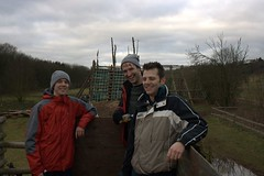 James, Kev and Chris checking out the course Image