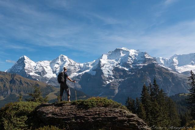 The big three, Eiger, Mönch, Jungfrau in Switzerland