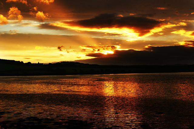 Budle Bay, Northumberland sunset