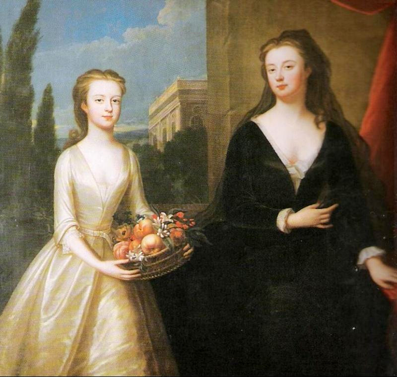 The Dowager Duchess of Marlborough and Lady Diana Spencer, by Maria Verelst, 1722