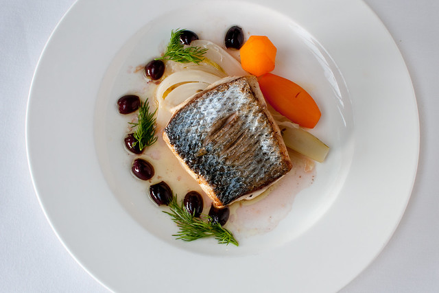 Seabass with fennel and olives © ROH 2016. Photograph by ROH Restaurants