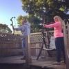 Father/daughter bonding time. #archery