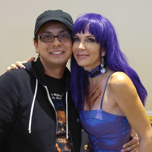 Meet Patty Mullen from Frankenhooker! She was really nice. @pattymullen13 #frankenhooker #pattymullen #sinistercreaturecon #Sacramento #horrocon #cultfilm