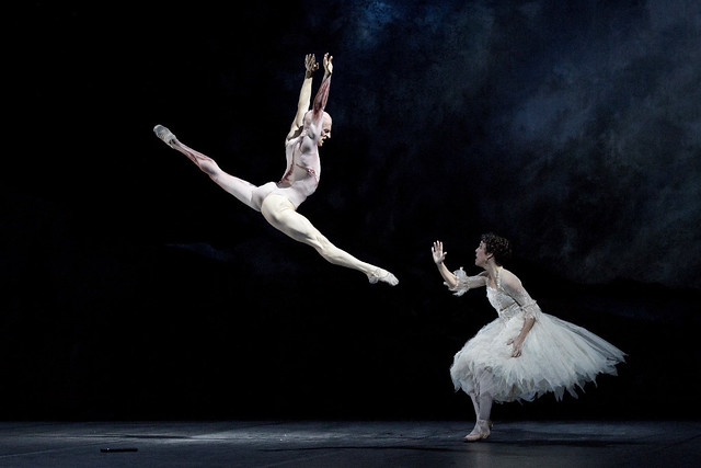 Laura Morera and Steven McRae as The Creature in Frankenstein © ROH 2016. Photograph by Andrej Uspenski