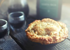 r.e. ~ posted a photo:	A very rustic homemade pie and a great cup of coffee, plain and simple, comfort food.