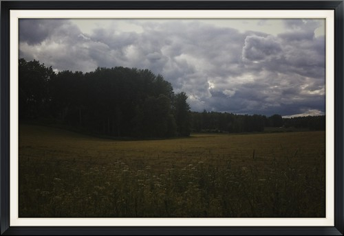 clouds rural countryside sweden farmland fields pastoral bucolic östergötland iphone4