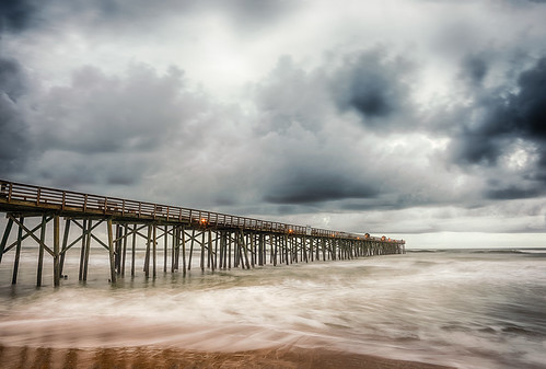 ocean longexposure usa cloud beach water rain weather landscape pier dock lowlight day florida stormy shore flagler centralflorida flaglerbeach architectureandbuildings