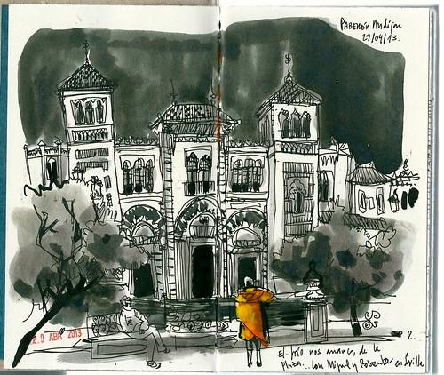 Pabellón mudéjar. Parque de Maria Luisa. Sevilla.