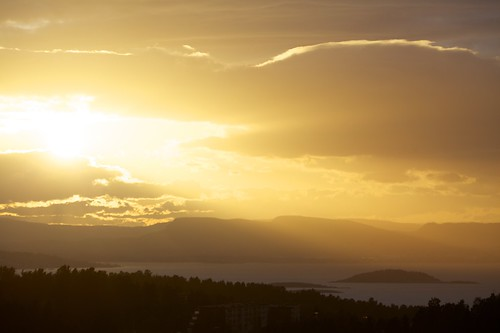 Sunset in Oslo, Norway (03. May 2013)
