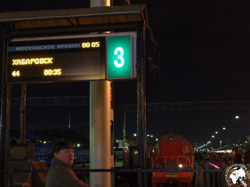 Départ du Transsibérien