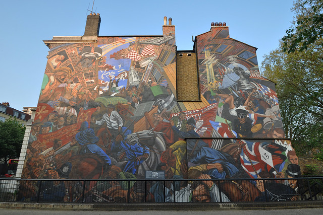 Battle of cable street mural explore stevekeiretsu 39 s for Cable street mural