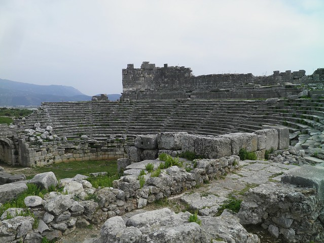 The Roman theatre, built in the mid-2nd century AD, Xanthos, Lycia, Turkey