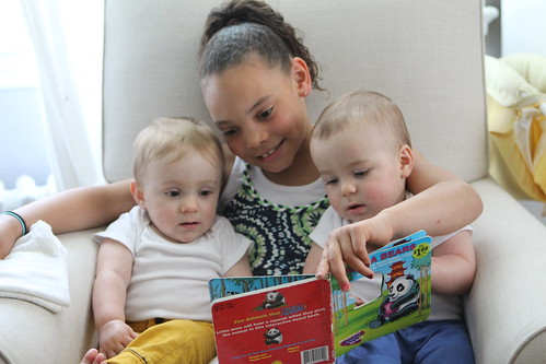 Samara Reading to the Wombats