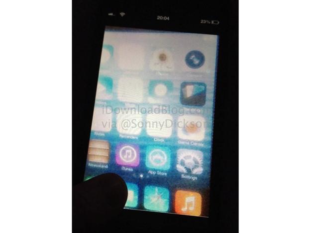 imagen de iOS 7 filtrada (rumor)