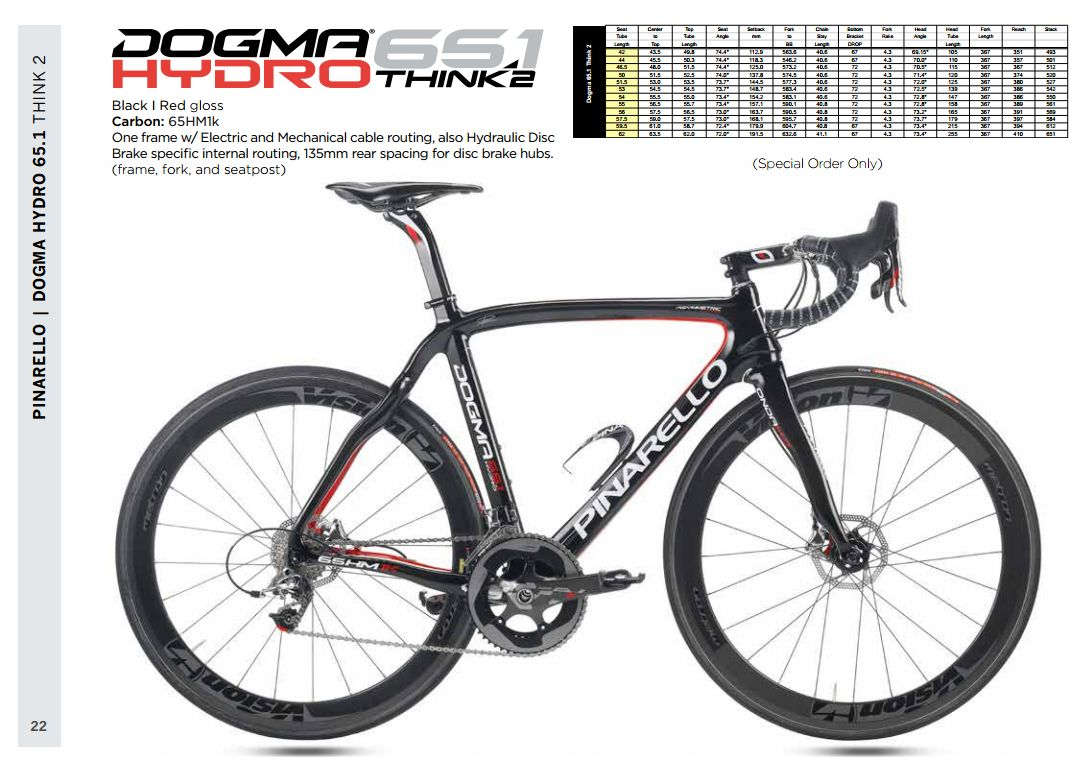 03733832db2 Same great frame as the Dogma 65.1 and it comes at the same price $5299.99.  The Dogma 65.1 Think 2 Hydro has dual mechanical or electrical shifting as  well ...