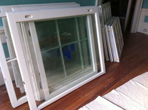 Refurbishing the original windows!