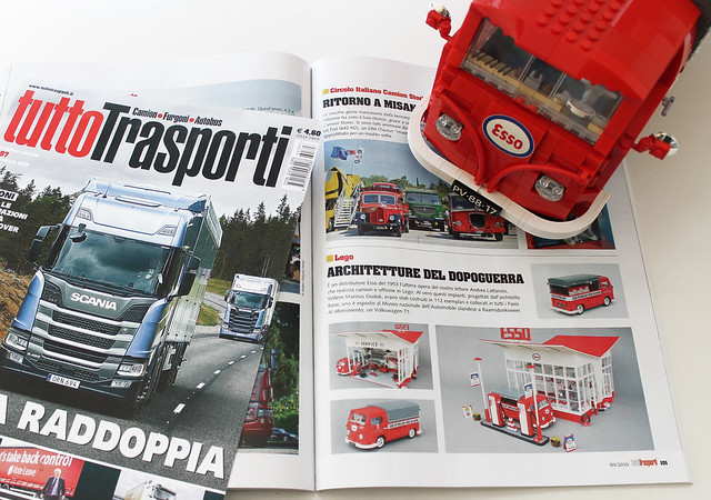 The ESSO GAS STATION featured in Tuttotrasporti magazine # 397  (September 2016)