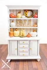 Luxury Fall Metallic Pumpkin Cupboard
