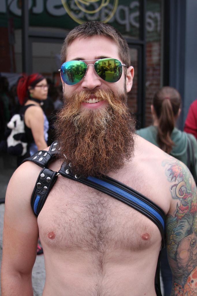 SEXY BEARDS ! FOLSOM STREET FAIR 2016 !