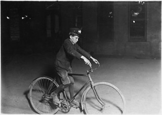 A.D.T. Messenger Boy. 10 P.M. Indianapolis, Ind, August 1908