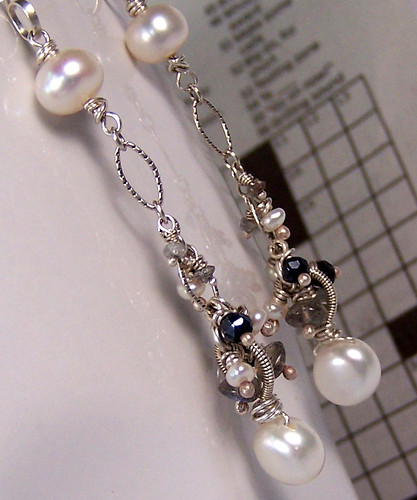 07032012 - pearl, diamond, laboradite, spinel, sterling silver - art shot