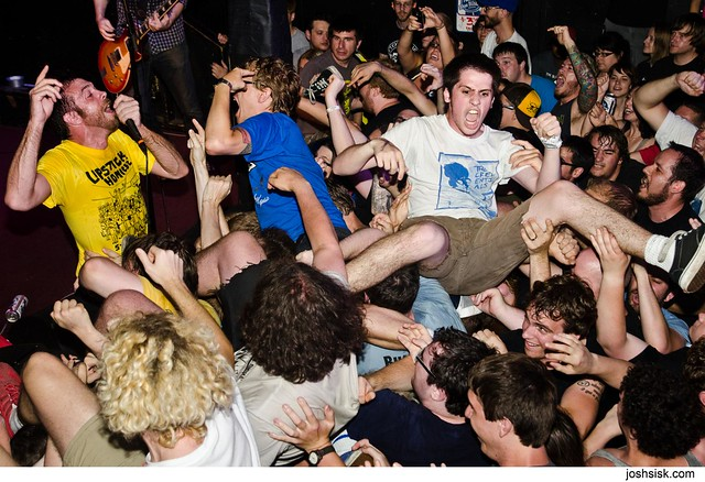 House Boat crowd surfing @ Insubordination Fest 2012