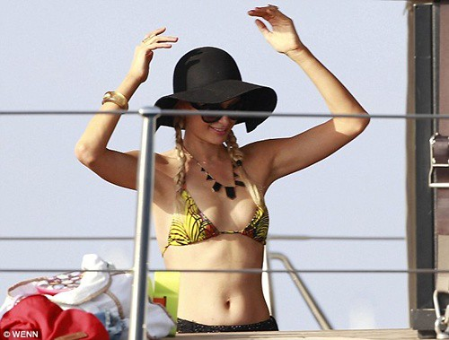 Paris Hilton Bikini Fun At Ibiza