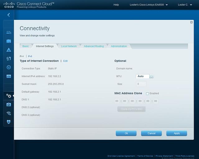 Cisco Connect Cloud - Internet Settings