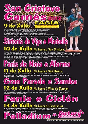 Vimianzo 2012 - Festa da Fagía en Carnés - cartel