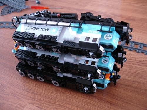 Mod 3 X Double Powered Maersk Locomotives Lego Train Tech