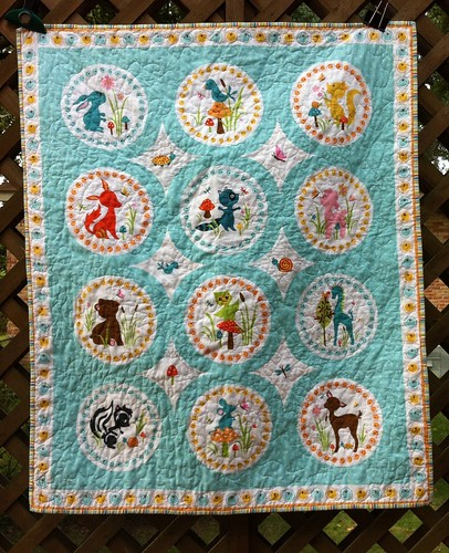 Woodland Tails panel quilt