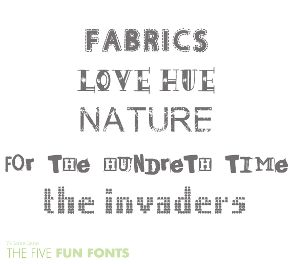 {the five} fun font